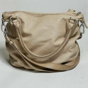 Liebeskind Cream Leather Hobo Shoulder Bag Purse